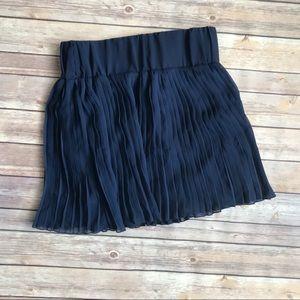 Navy Layered Ruffle Skirt